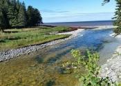 La Rivière-à-l'Huile qui se jette dans le Saint-Laurent