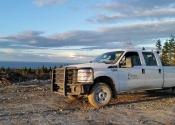 Le camion fourni par SEPAQ Anticosti