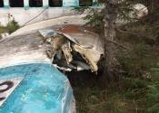 La carcasse de l'avion de la Rivière-à-l'Huile (crash en 1967)