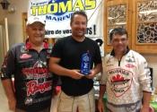 Maurice, Mario et Denis pour la remise du trophée de la 3e place.
