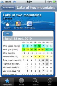 Windguru est la référence en matière de prévision de vents.