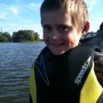 Mon fils Émile, futur chasseur de maskinongés