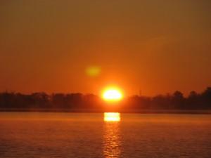 Spectaculaire levé de soleil