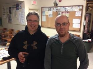 Mike Lazarus et moi après sa conférence